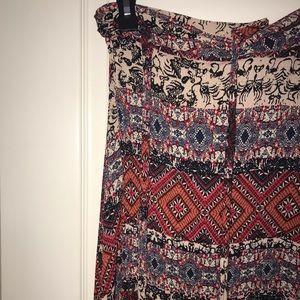 Bohemian Pattern Wrap Skirt   American Threads